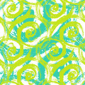 Seamless pattern with bold swirling brush strokes — Stock Vector