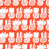 Pattern with pineapples — Stock Vector