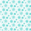 Winter pattern with various falling snowflakes — Stock Vector #54256387
