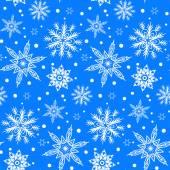 Patrón de invierno con varios copos de nieve cayendo — Vector de stock