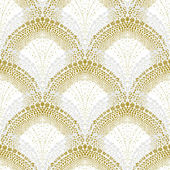 White geometric texture in art deco style — ストックベクタ