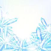 Vector card with winter decor — Stock Vector