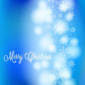 Vector card with Chrismas lights and snow — Stock Vector
