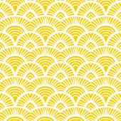 Vintage hand drawn art deco pattern — Stock Vector