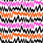 Striped hand drawn pattern with zigzag lines — Stock Vector