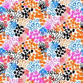 Hand painted vector pattern with splatters — Stock Vector