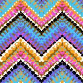 Multicolor hand drawn pattern zigzag — Stock Vector
