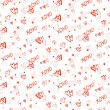 Pattern with hand painted hearts — Stock Vector #61474155