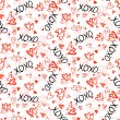 Pattern with hand painted hearts — Stock Vector #61474195