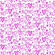 Pattern with hand painted hearts — Stock Vector #61504731