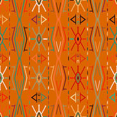 Vector seamless ethnic pattern — Stock Vector
