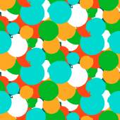 Bold vector polka dot pattern — Stock Vector