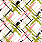 Pattern with stripes and crosses — Stock Vector
