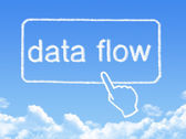 Data Flow message cloud shape — Stock Photo