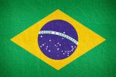 Brazil flag pattern on the concrete wall — Stock Photo