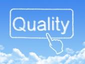 Quality message cloud shape — Stock Photo