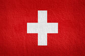 Switzerland Flag on the wall texture — Stock Photo