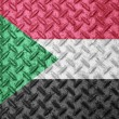 Sudan flag on grunge wall — Stock Photo #61922513