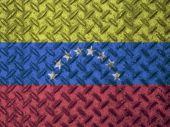 Venezuela flag on grunge wall — Stock Photo
