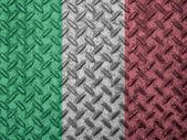 Italian flag on grunge wall — Stock Photo