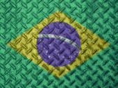 Brazil flag on grunge wall — Stock Photo