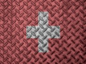 Switzerland flag on grunge wall — Stock Photo