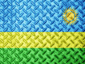 Rwanda flag on grunge wall — Stock Photo