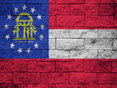 Georgia State Flag painted on wall — Stock Photo