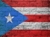 Bandiera Puerto rico dipinta sulla parete del grunge — Foto Stock