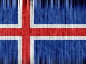 Iceland flag paper texture — Stock Photo