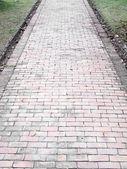 灰色の敷石の石の舗装の背景 — ストック写真
