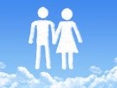 Mann und Frau Wolken-shape — Stockfoto