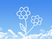 Flower concept cloud shape — Stock Photo