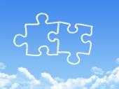 Puzzle piece cloud shape — Stock Photo