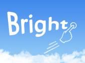 Bright message cloud shape — Stock Photo
