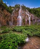 Big Waterfall in Plitvice Lakes National Park, Croatia — Stock Photo