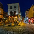 Romantic Paris Cafe on Montmartre in the Evening, Paris, France — ストック写真 #55303001