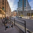 Typical Street with Rental Bicycles Parking in London, United Ki — Stock Photo #56373891