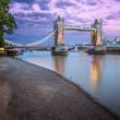 Thames Embankment and Tower Bridge at Sunset, London, United Kin — Stock Photo #56373923