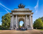 Wellington Arch, aka Constitution Arch or the Green Park Arch, i — Stock Photo