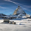 Matterhorn Peak in Zermatt Ski Resort, Switzerland — Stock Photo #64982463