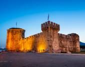 Kamerlengo Fortress in Trogir in the Evening, Dalmatia, Croatia — Stock Photo