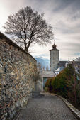 Stockalper Citadel and Defence  Wall in Brig, Switzerland — Stock Photo