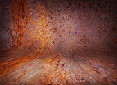 Old curved Rusty background — Stock Photo