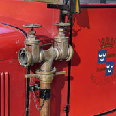 Magirus old timer fire truck from the fire department in Wassenaar. — Stock Photo
