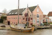 Warehouses Erven Brouwer in Dokkum. — Stock Photo