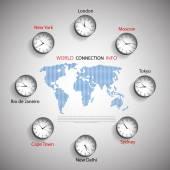 Time zones — Stock Vector