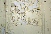 Parched paint on old door — Stock Photo