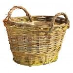 Handmade wattle basket over white — Stock Photo #71651617