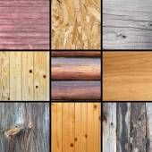 Collection of textured woods — Stock Photo